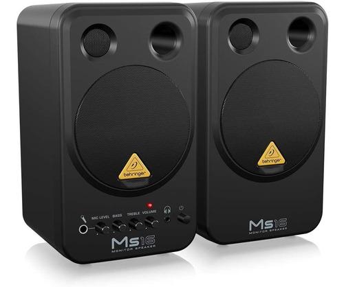 Behringer Monitores Ms16 Activos 16 Watts, Para Estudio