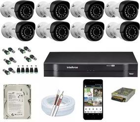 Kit 8 Câmeras Intelbras 1120b G4 Dvr Intelbras Mhdx 8 Canais