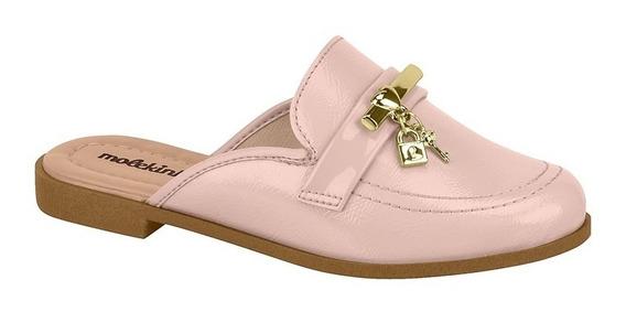 Sapato Mule Infantil Feminino Molekinha 2525100 Verniz