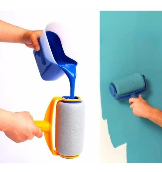 Paint Roller Brush Rodillo Recargable Antigoteo