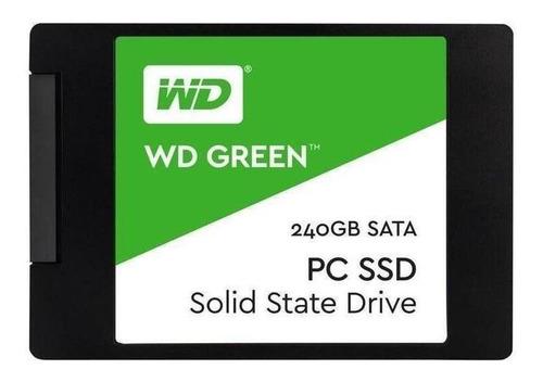 Imagen 1 de 2 de Disco Sólido Ssd Interno Western Digital Wd Green Wds240g2g0a 240gb Verde