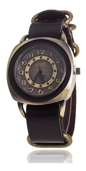 Relógio Feminino Estilo Vintage Pulseira Em Couro Modelo 014