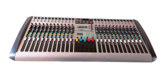 Mesa Dj Profissional Som Aux Mixer Mp3 26 Efeitos 24 Canais