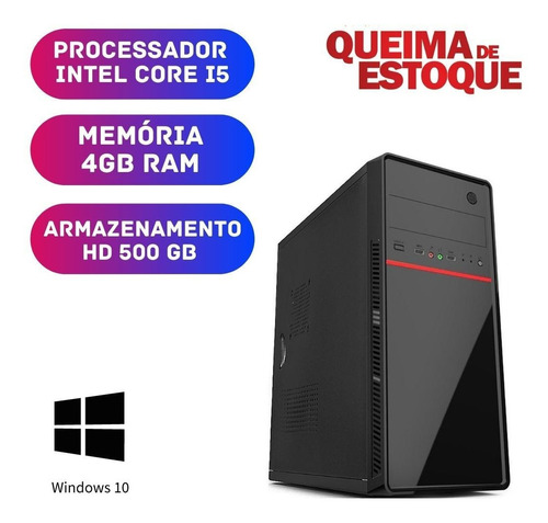 Imagem 1 de 2 de Computador - Core I5 4gb Ram Ddr3 500gb Windows 10 Pró
