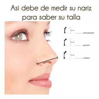 Corrector Nasal Respingadores Nariz 6 Unds 3 Tallas S M L