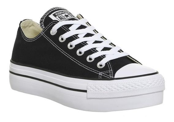 Zapatillas Converse Chuck Taylor Plataforma Negras 18 Cuotas