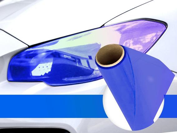 Adesivo Película Azul Escuro Camaleao P/ Farol Carro 30cmx2m