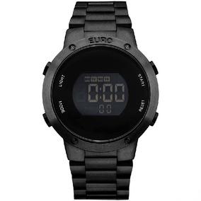 Relógio Euro Digital Preto Eubj3279ab/4p C Nf-e
