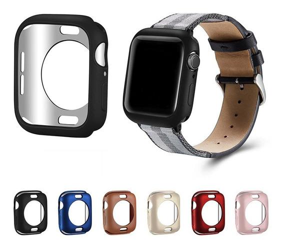 Funda De Tpu Mate Premium Para Apple Watch Serie 5 + Mica
