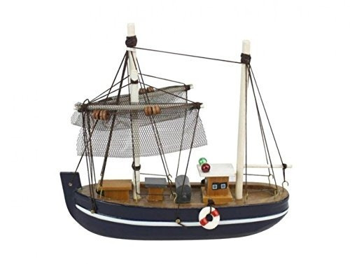 Hampton Náutico 6 Madera Fine Catch Modelo Barco De Pesca
