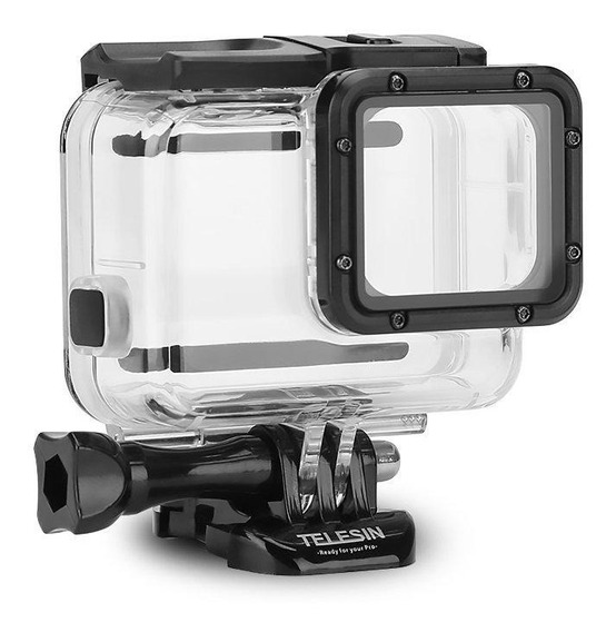 Caixa Estanque Telesin Gopro Hero 5 6 7 Black + Tampa Touch