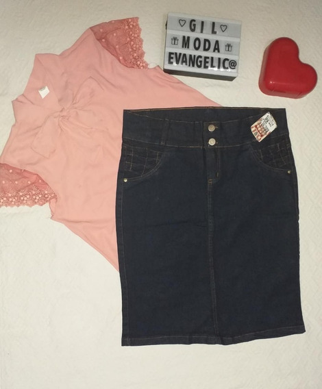 Kit 2 Saias Jeans Plus Size