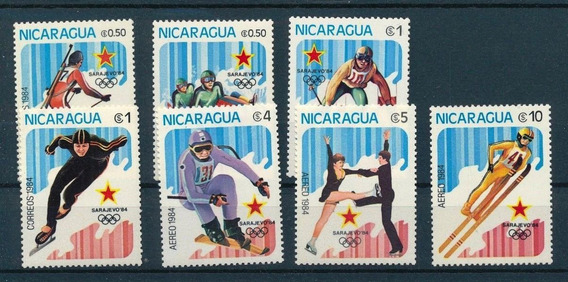 Nicaragua Juegos Olimpicos 1984 Sarajevo Completa Mint (2)