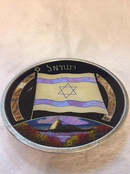 Raro Peça Judaica Bandeira Israel E Rio Janeiro Borboleta