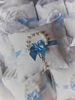Almofadinhas Com Mini-terço (azul)