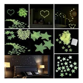 Paquete De 2500 Estrellas Fluorescentes Fosforecentes