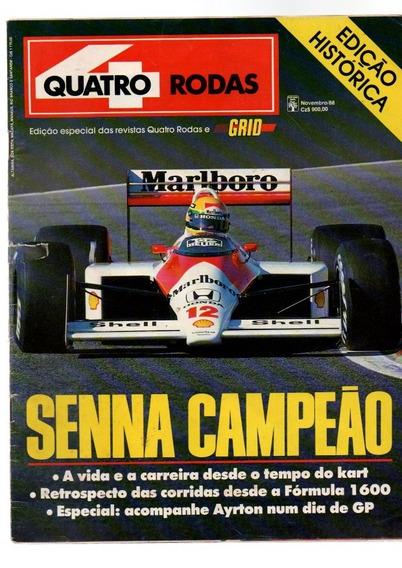 Revista Quatro Rodas Senna Campeão Edição Histórica 1988