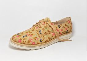 Zapato Para Dama Choclo Agujeta Casual Retro