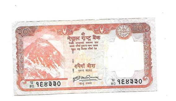 Liquido Excelente Billete De Nepal. 20 Rupias 2009