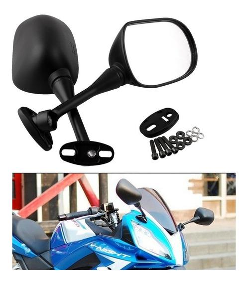 Espelhos Retrovisores Da Motocicleta Para Honda Preto