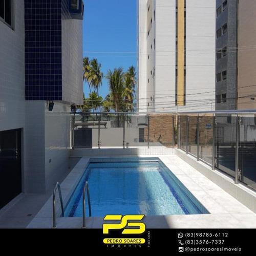 Apartamento Com 3 Dormitórios À Venda, 92 M² Por R$ 430.000 - Intermarés - Cabedelo/pb - Ap3911