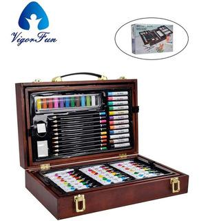 Kit Dibujo Arte Pintura Oleo Pa Colores Acrilico Vigorfun