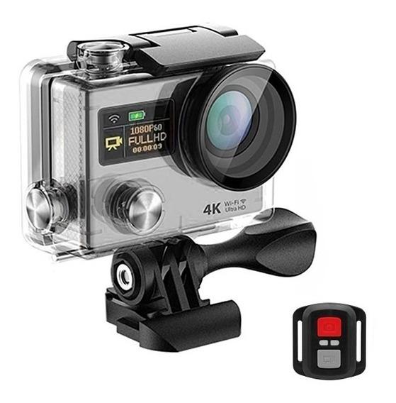 Câmera De Ação Sports Camera (4k) 12mp/ Lente 170°/wifi + Co