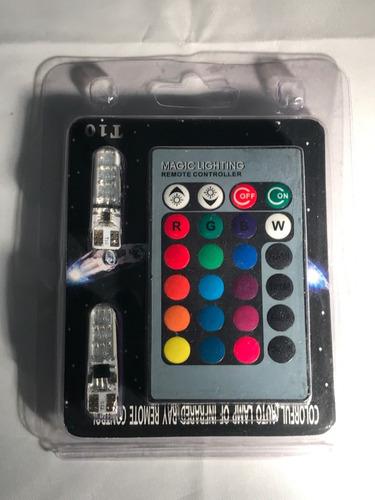 Imagen 1 de 10 de Lamparas Led T10 -5050x6 Rgb Control Multicolor Posicion Z50