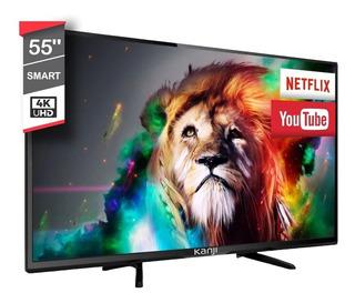 Smart Tv Led 55 Pulgadas Kanjihome 4k Uhd Wifi Android Nuevo