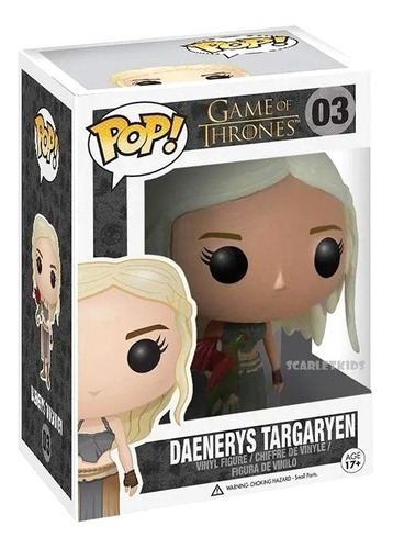 Funko Pop Daenerys Targaryen 03 Con Dragon Game Of Thrones