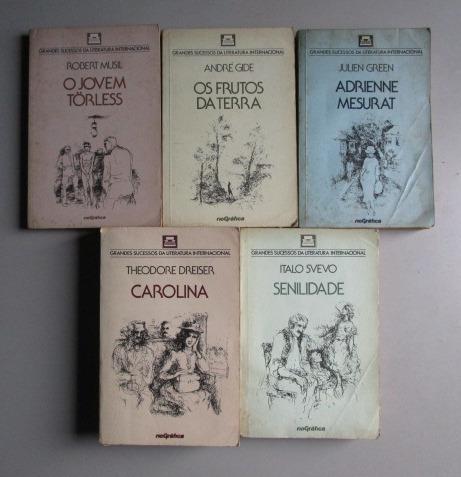 5 Livros - Literatura Estrangeira - Rio Gráfica - Grandes Su