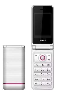 Celular Libre Ipro V7 Flip Blanco/ Rosa Teclas Dual Sim
