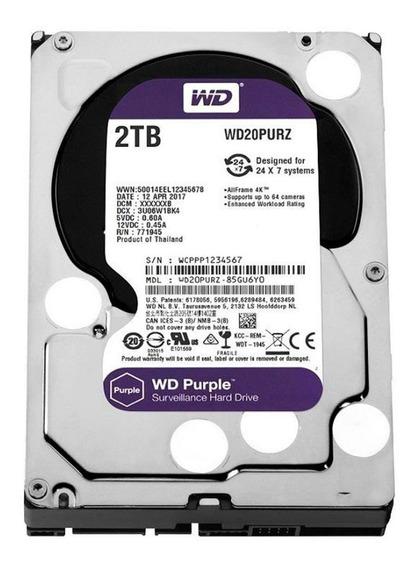 Hd Proprio Dvr Segurança Wd Purple 2tb Sata 6gb/s 5400 Rpm