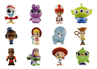 Toy Story 4 Minis Series 3 Completa 12 Figuras Inc. Forky