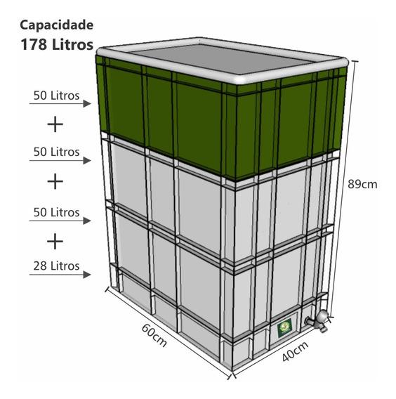 Composteira Doméstica 178 Litros + Minhocas