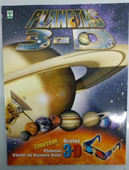 Livro Planetas 3d - Com Óculos 3d