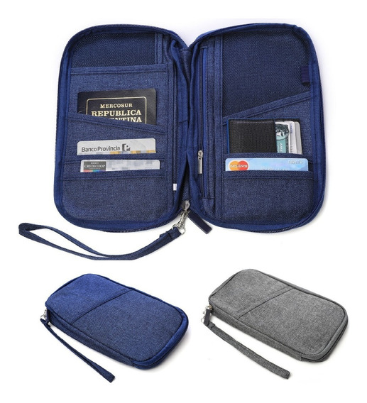 Porta Pasaporte Portadocumento Organizador Viaje Y Tarjetas