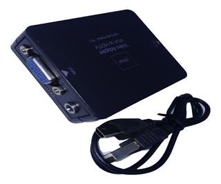Conversor De Video Vga + Audio A Hdmi, Negro.boleta/factura