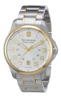 Reloj Victorinox Swiss Army Officers Gent 241362 Acero Inox Antes 30.000$!!