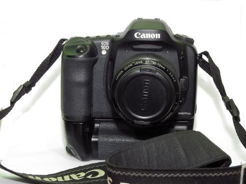 Camera Digital Canon Eos 10 D Com Grip + Objetiva Zoom 35/70