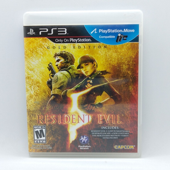 Resident Evil 5 Gold Edition Ps3 Midia Fisica Play 3 Move