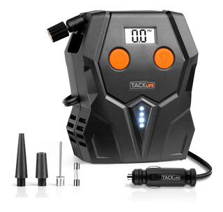 Compresor Digital Inflador Bomba Aire Pantalla Lcd +linterna