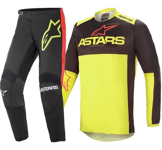Kit Calça Camisa Offroad Alpinestars Fluid Tripple 21 Mx