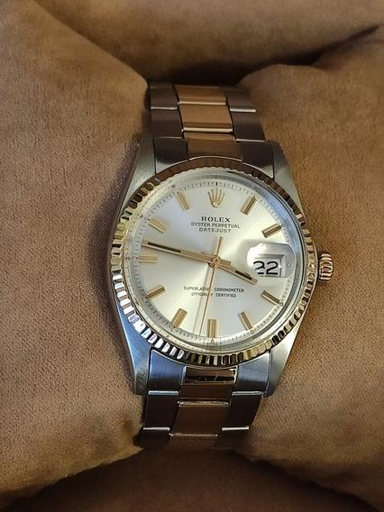 Rolex Datejust Masculino Aço E Ouro 18k 36 Milímetros