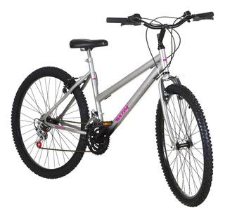 Bicicleta Feminina Aro 26 18 Marchas Cinza Pro Tork Ultra
