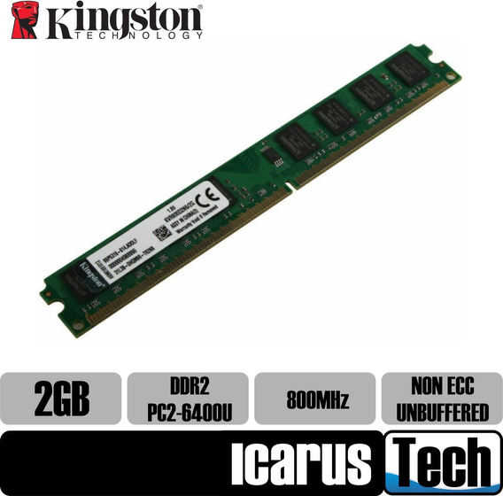 Memoria Ddr2 2gb Pc2-6400u 800mhz Kingston Blister
