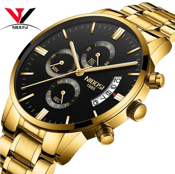 Relógio Masculino Nibosi Original/funcional/promoção/barato