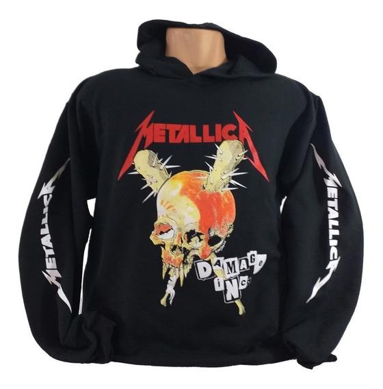 Blusa Metallica Damage Inc. Blusa Moletom Thrash Metallica