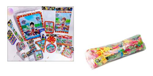 Kit 12 Invitados Decoración Paw Patrol Piñata Relleno