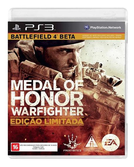 Medal Of Honor Warfighter Edição Limitada Ps3 Mídia Física